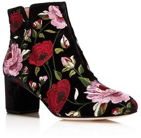Kate Spade Lucine Floral Embroidered Velvet Booties - 100% Exclusive