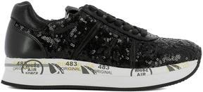 Premiata Black Leather Sneakers