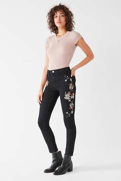 BDG Twig High-Rise Embroidered Skinny Jean – Black
