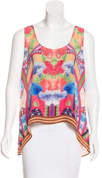 Camilla Silk Embellished Top