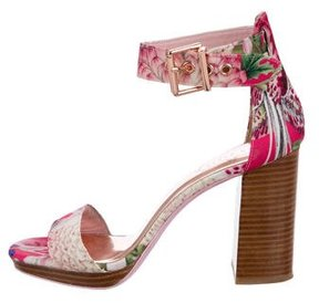 Ted Baker Floral Canvas Sandals