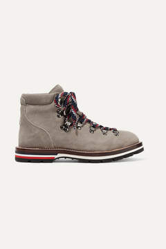 Moncler Blanche Suede Ankle Boots - Mushroom