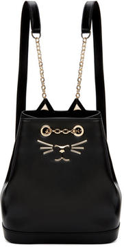 Charlotte Olympia Black Petite Feline Backpack