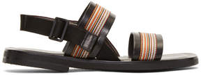 Paul Smith Black Guru Multistripe Sandals