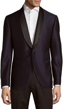 Lubiam Men's Navy Wool Jacket