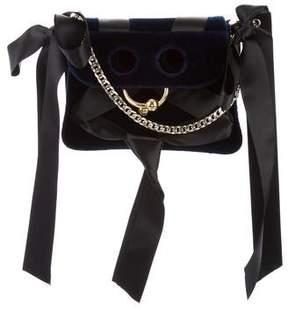 J.W.Anderson Pierce Mini Ribbon Velvet Bag