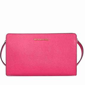 Michael Kors Jet Set Large Crossbody Clutch - Ultra Pink - PINKS - STYLE