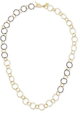 Armenta Midnight & 18k Circle Link Necklace
