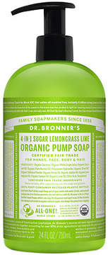 Dr. Bronner's 4-IN-1 Sugar Organic Pump Soap Lemongrass Lime