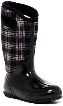 Bogs Classic Winter Plaid Tall Waterproof Rain Boot