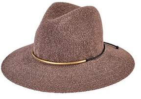 San Diego Hat Company Women's Knit Fedora With Braided Faux Suede Cth8077.