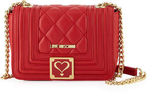 Love Moschino Quilted Faux Napa Shoulder Bag