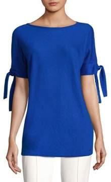 Escada Sartona Knot-Sleeve T-Shirt