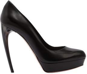 Alexander McQueen 125mm Leather Pumps W/ Hand-Painted Heel