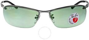 Ray-Ban Rectangle Semi-Rimless Polarized Sunglasses