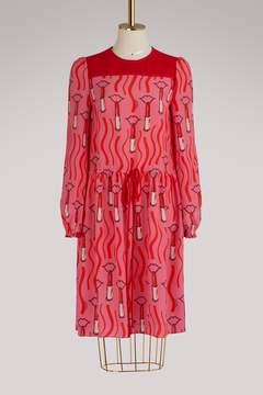 Valentino Lipstick long sleeves dress