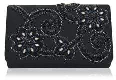Adrianna Papell Inis Beaded Satin Convertible Clutch