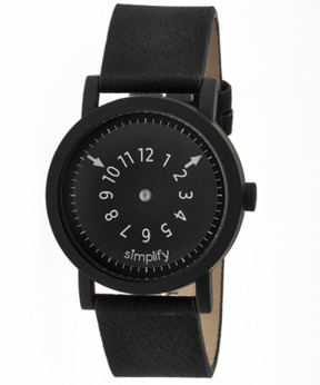 Simplify The 2300 Leather-band Watch.