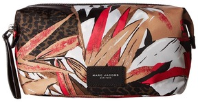 Marc Jacobs Palm Printed Biker Large Cosmetics Landscape Pouch