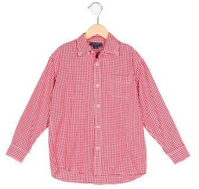 Oscar de la Renta Boys' Gingham Button-Up Top