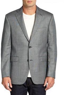 Saks Fifth Avenue BLACK Slim-Fit Silk & Wool Check Jacket