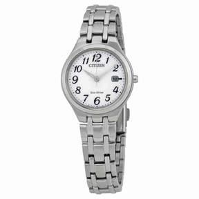 Citizen Corso White Dial Ladies Steel Watch EW2480-59A