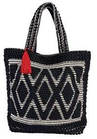 San Diego Hat Company Women's Woven Darie Shopper Bag Bsb3545.