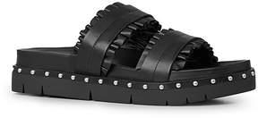 AllSaints Alanna Ruffle Studded Slide Sandals