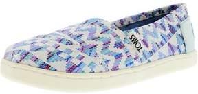 Toms Classic Raffia Blue Multi Ankle-High Flat Shoe - 5.5M