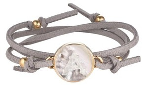 Asha Women's Initial Suede Wrap Bracelet