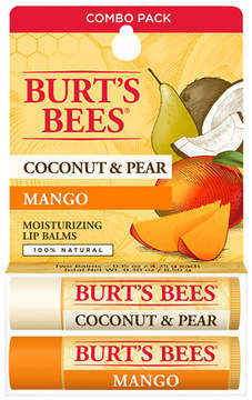 Burt's Bees Lip Balm Blister Box Coconut & Pear Mango Butter
