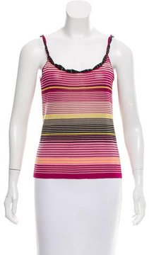 Christian Lacroix Striped Sleeveless Top