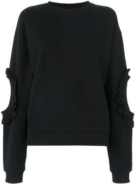 Francesco Scognamiglio frill trim cut out sweater