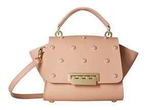 Zac Posen Eartha Iconic Top-Handle Crossbody Pearls Handbags