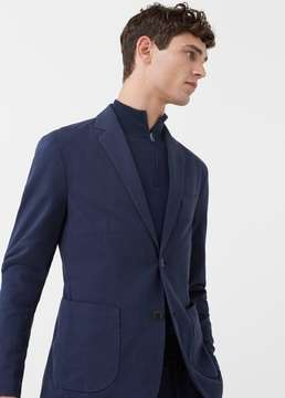 Mango Outlet Slim-fit unstructured cotton blazer