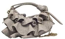 Borbonese Women's 954111684p50 Grey Leather Shoulder Bag.