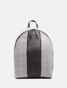 Calvin Klein leather zip backpack