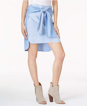 Bar III Tie-Front High-Low Skirt, Created for Macy's