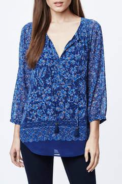 Daniel Rainn Blue Floral Blouse