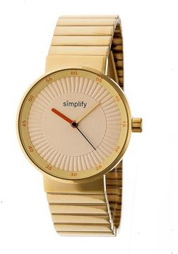 Simplify The 4600 SIM4603 Gold Stainless Steel Analog Watch