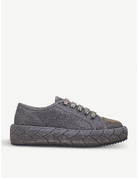 Marco De Vincenzo Braided lurex trainers