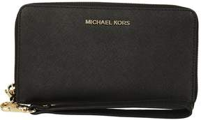Michael Kors Jet Set Travel Zip Around Wallet - NERO/ORO - STYLE