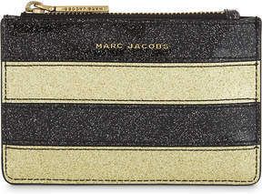 Marc Jacobs Glittered stripe coin purse - GOLD MULTI - STYLE