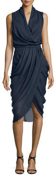 Camilla And Marc Draped Sleeveless Cocktail Dress, Ink