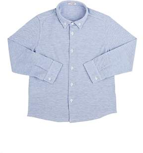 Il Gufo Piqué-Knit Cotton Button-Down Shirt