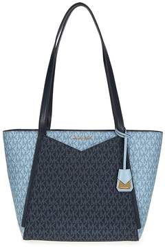 Michael Kors Small Whitney Pebbled Leather Tote- Pale Blue - ONE COLOR - STYLE