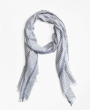 Brooks Brothers Gingham Cotton Gauze Scarf