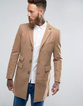 Farah Askern Plain Overcoat