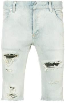Balmain distressed denim shorts