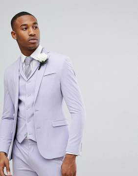 Asos Wedding Super Skinny Fit Suit Jacket In Lilac